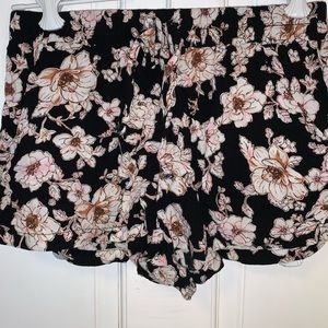 Floral Fabric Shorts